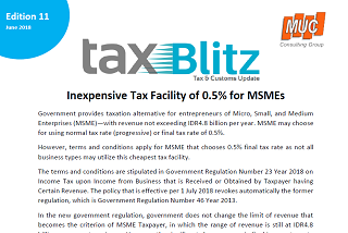 Inexpensive Tax Facility of 0.5% for MSMEs