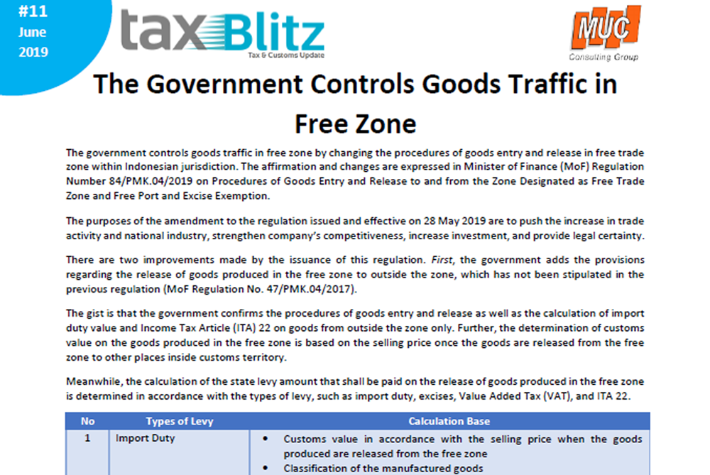 The Government Controls Goods Traffic in Free Zone