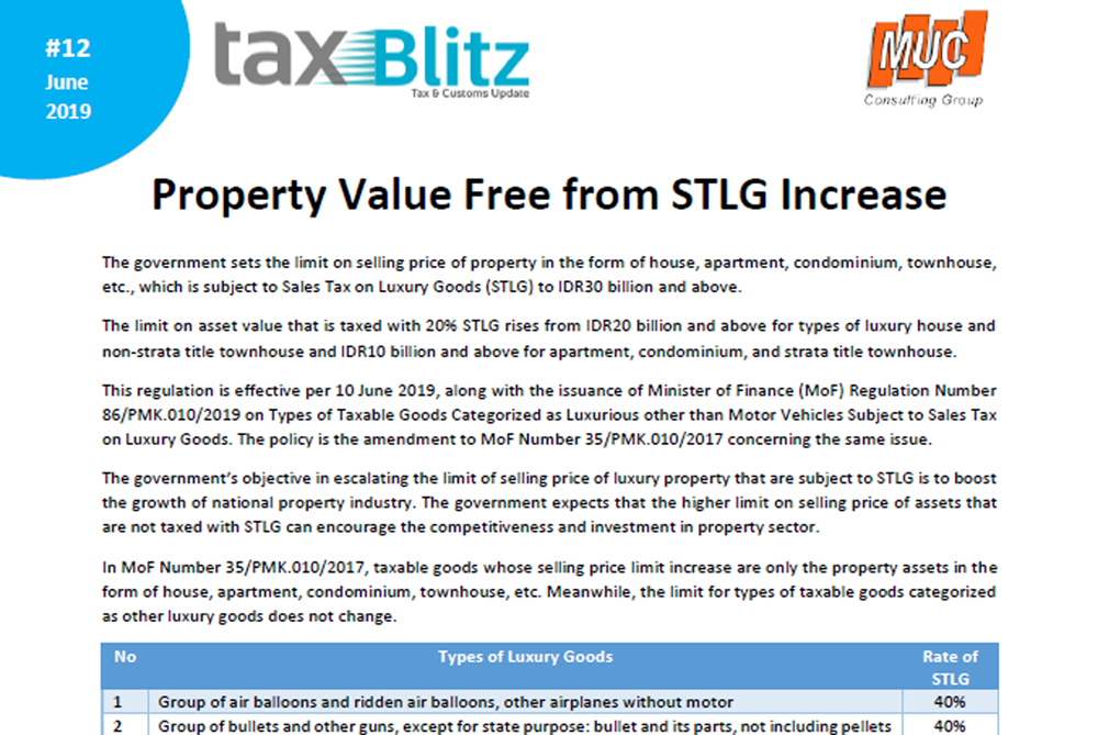 Property Value Free from STLG Increase