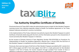 Tax Authority Simplifies Certificate of Domicile