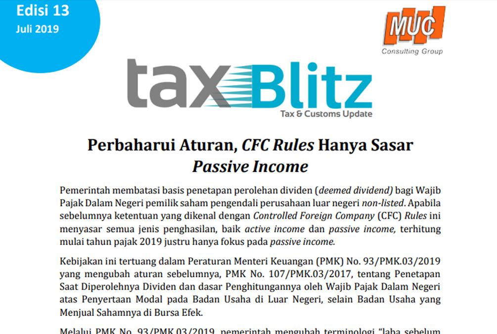 Perbaharui Aturan, CFC Rules Hanya Sasar Passive Income
