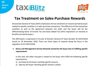 Tax Treatment on Sales-Purchase Rewards