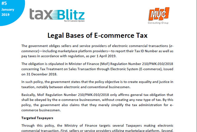 Legal Bases of E-commerce Tax