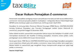 Dasar Hukum Pemajakan E-commerce