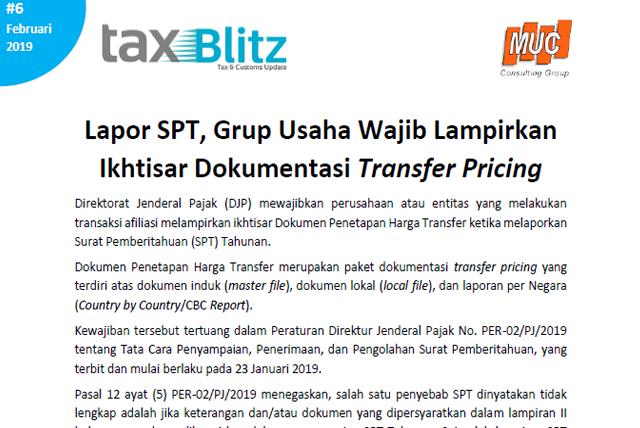 Lapor SPT, Grup Usaha Wajib Lampirkan Ikhtisar Dokumentasi Transfer Pricing