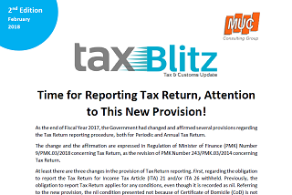 Time for Reporting Tax Return, Attention to This New Provision!