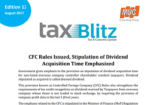 CFC Rules Issued, Stipulation of DividendAcquisition Time Emphasized