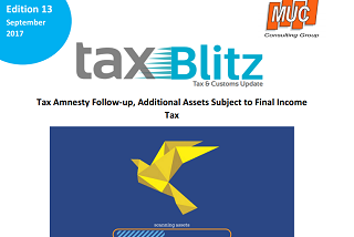 Tax Amnesty Follow-up, Additional Assets Subject to Final Income Tax