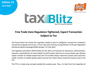 Free Trade Zone Regulation Tightened, Export Transaction Subject to Tax