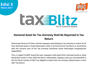 Declared Asset for Tax Amnesty Shall Be Reported in Tax Return