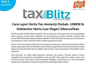 Cara Lapor Harta Tax Amnesty Diubah, UMKM & Deklarator Harta Luar Negeri Dikecualikan