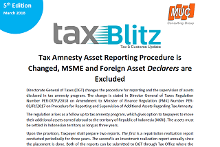 Tax Amnesty Asset Reporting Procedure is Changed, MSME and Foreign Asset Declarers are Excluded