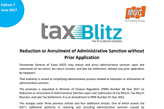 Reduction or Annulment of Administrative Sanction without Prior Application
