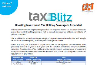 Boosting Investment, Tax Holiday Coverage Is Expanded