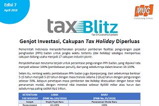 Genjot Investasi, Cakupan Tax Holiday Diperluas
