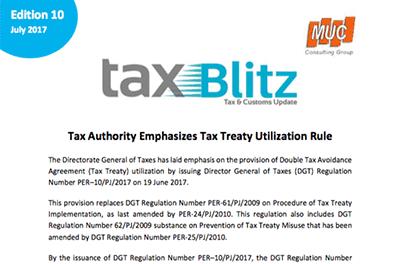 Tax Authority Emphasizes Tax Treaty Utilization Rule