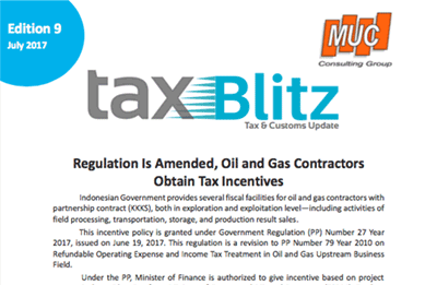 Regulation Is Amended, Oil and Gas Contractors Obtain Tax Incentives